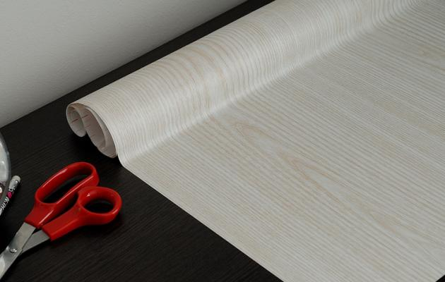 2m x 45cm MAKEOVER WHITE WOOD WOODGRAIN SELF ADHESIVE STICKY BACK PLASTIC  VINYL
