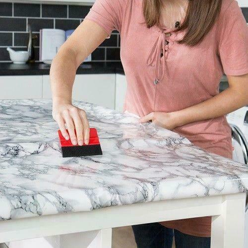 1mx90cm Noir Velours Uni Vinyle Wrap Sticky Back Plastic Self Adhésif D-C-Fix